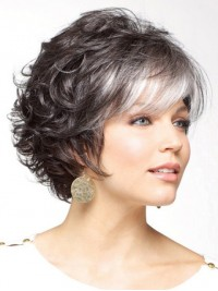 Nice Short Curly Capless Synthetic Hair Wigs 6 Inches