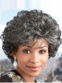 High Quality Short Curly Capless Synthetic Hair Wigs 8 Inches
