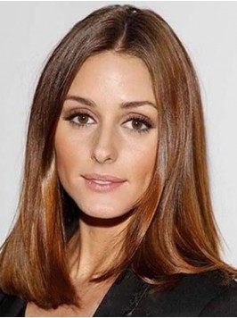 Medium Brown Straight Central Parting Lace Front S...