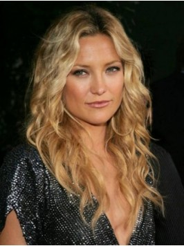 Blonde Central Parting Long Wavy Lace Front Human ...