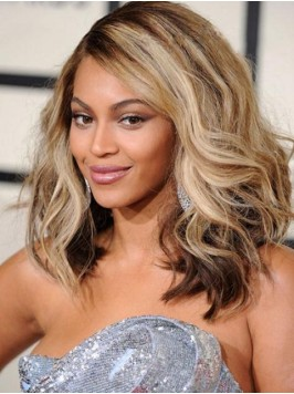 Beyonce Ombre Medium Wavy Lace Front Synthetic Wig...