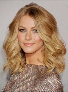 Blonde Central Parting Medium Wavy Lace Front Huma...