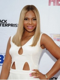Ashanti Blonde Central Parting Long Straight Lace Front Human Hair Wigs