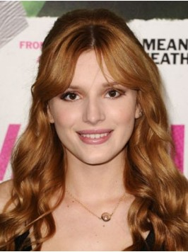 Bella Thorne Central Parting Long Wavy Lace Front ...