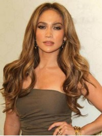 Central Parting Long Wavy Lace Front Human Hair Wigs 26 Inches