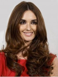 Central Parting Long Wavy Lace Front Human Hair Wigs