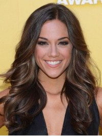 Central Parting Long Wavy Full Lace Synthetic Wigs