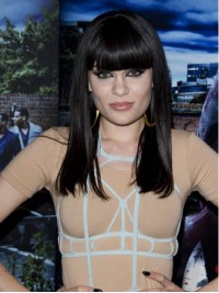 Jessie J Long Straight Capless Synthetic Wigs With Bangs