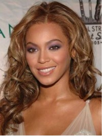 Beyonce Central Parting Long Wavy Lace Front Human Hair Wigs