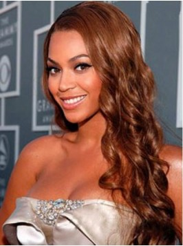 Beyonce Long Wavy Synthetic Lace Front Wigs With S...