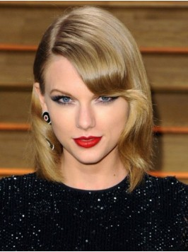 Taylor Swift Short Wavy Capless Synthetic Wigs Wit...