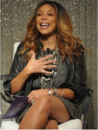 Wendy Williams Ombre Long Wavy Capless Human Hair Wigs Without Bangs