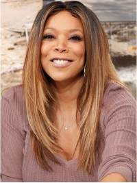 Wendy Williams Central Parting Long Straight Ombre Human Hair Wigs