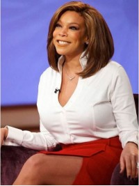 Wendy Williams Straight Short Lace Front Human Hair Wigs With Side Bangs