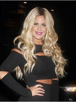 Kim Zolciak Long Wavy Central Parting Lace Front S...