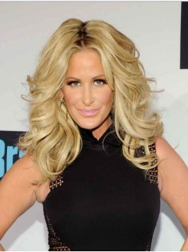 Kim Zolciak Central Parting Long Wavy Synthetic Wi...