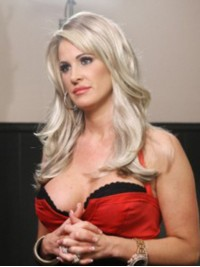 Kim Zolciak Long Straight Lace Front Synthetic Wigs With Side Bangs