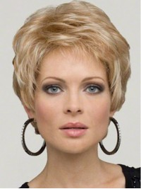 Blonde Short Wavy Lace Front Wig