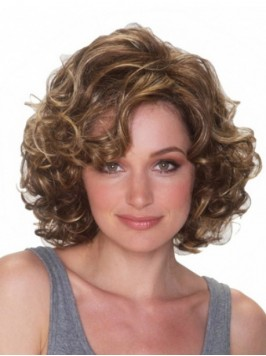 Brown Short Curly Wigs
