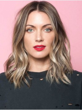 Central Parting Ombre Straight Wig