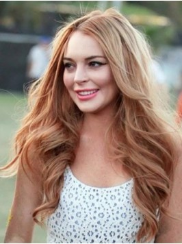 Long Wavy Lace Front Wig Without Bangs
