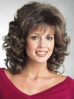 New Mid-length Curly Synthetic Wig