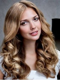 Central Parting Long Wavy Lace Front Wig