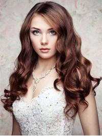 Brown Long Lace Front Wavy