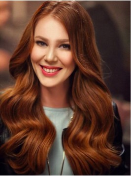 Central Parting Long Wavy Wigs
