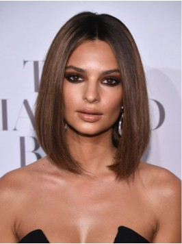 Medium Central Parting Straight Lace Front Wigs