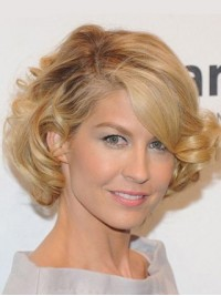 Blonde Lace Front Short Wavy Wig