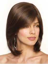 Bob Brown Short Straight Lace Front Wig