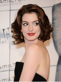 Hathaway Brown Short Wavy Caplees Synthetic Wigs 10 Inches