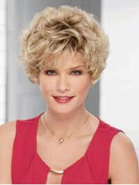 Blonde Short Curly Wigs Inch