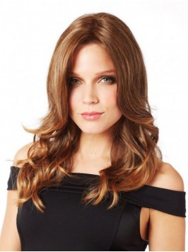 Central Parting Wavy Long Lace Front Wig
