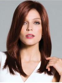 Brown Long Straight Wig