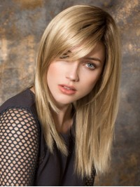 Medium Straight Blonde Lace Front Wig
