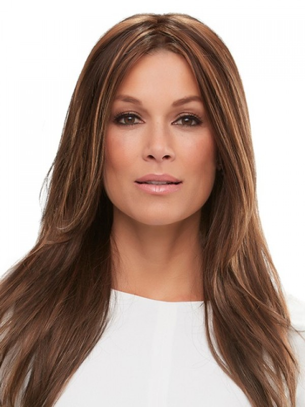 Auburn Central Parting Long Straight Lace Front Wig