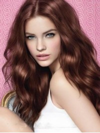 Brown Central Parting Wavy Long Lace Front Wig