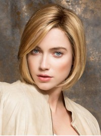 Short Blonde Bob Straight Lace Front Wig