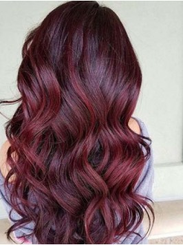 Long Wavy Lace Front Ombre Wigs