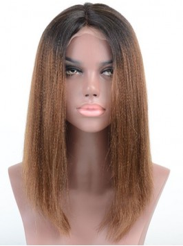 Long Curly Lace Front Two Tone Human Hair Wig