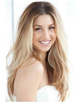 Light Blonde Two Colors Ombre Long Wavy Lace Front...