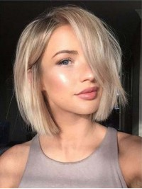 Two Colors Ombre Bob Full Lace Human Hair Wig