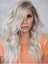 Long Straight Two Tones Lace Front Wig