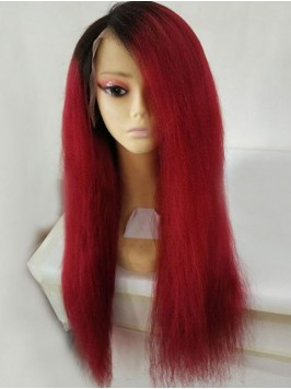 Long Lace Front Two Tone Human Hair Wig
