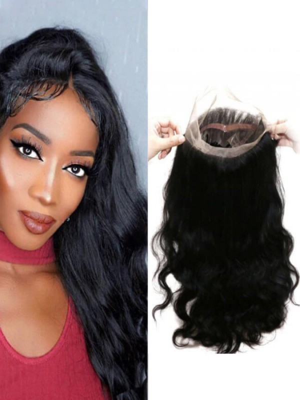 Body Wave 360 Lace Front Unprocessed Virgin Hair Full Lace Frontal Closure