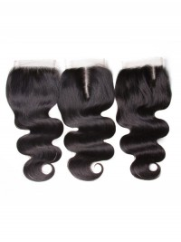 Body Wave Hair Closure Three part Middle Part and Free Part