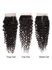 Jerry Curly Human Hair Lace Closure