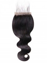 Body Wave Hair 5x5 Closure Free Part With Baby Hair Medium Brown Swiss Lace